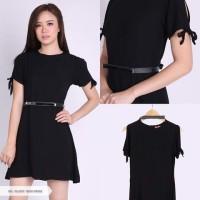 Ellegy Plain Casual Mini Dress
