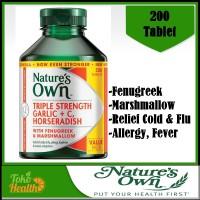 Natures Own Triple Strength Garlic Vitamin C Horseradish / 200 / Pilek