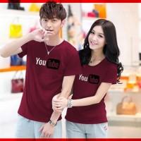 Cp T-Shirt You Tube Marun CL - pakaian couple cotton co Limited