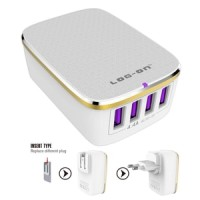 CHARGER LOG-ON 4 PORT USB FAST CHARGING