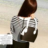 tas fashion wanita murah slingbag black&white grosir tas selempang