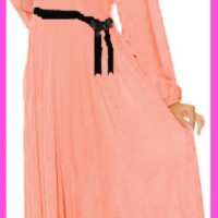 maxi basic DR - baju muslim wanita jersey salem Berkualitas 625