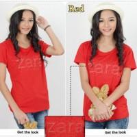 Atasan - Blouse Zara Merah SW blouse wanita spandek merah Berkualit