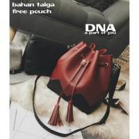 tas fashion wanita murah slingbag+pouch grosir tas selempang