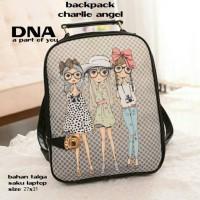 tas fashion wanita murah backpack charlie angel grosir tas ransel