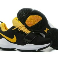 Sepatu Basket Nike PG 1 Paul George 1 Black Yellow