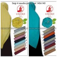 hijab jilbab segi 4 saudia polos jumbo umama