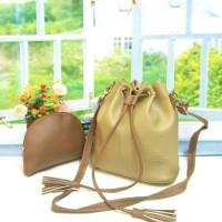 Tas fashion wanita murah slingbag serut 2in1 grosir tas selempang