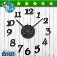 Jam Dinding Raksasa DIY Wall Clock 30-50cm Diameter Spons - ELET00666
