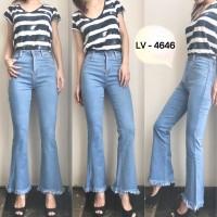 Celana Jeans Wanita / Cewek Highwaist Cutbray Punny 4626