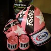 Sarung Tinju Fairtex / Glove size: 8,10 oz (100% Kulit Asli) +Handwrap