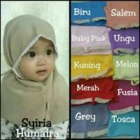 Jilbab Baby Syria Humaira/ Kerudung Anak/ Hijab Bayi Newborn/ Khimar