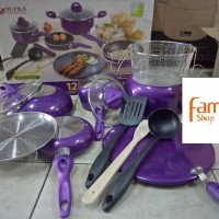 Supra panci teflon cookware set 12 pcs rosemary