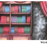 Background Foto Wisuda / Rak Buku WS-06 Studio Photo