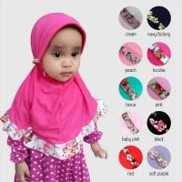 Jilbab Bunga Rempel Anak - pink