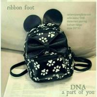 btas fashion wanita murah backpack ribbon foot grosir tas ransel