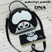 tas fashion wanita murah paket panda tas+dompet grosir turun harga