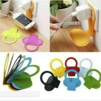 Cell phone hanger, gantung cas hp tempat charger - Hitam