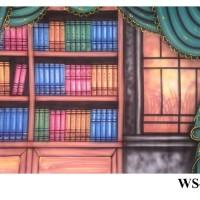 Background Foto Wisuda / Rak Buku WS - 15 Studio Photo