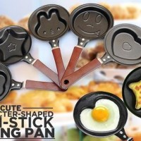 Teflon Mini Karakter / Wajan Mini Frying Pan Motif Lucu