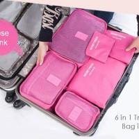 Traveling bag in bag set organizer 6in1