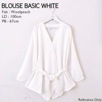 Blouse Basic White | Atasan Muslim | Blouse Muslim