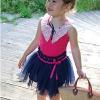 Baju Anak - Pink Blue Dress (GI-732)