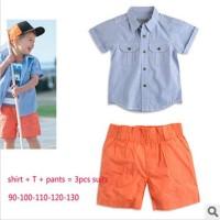 Baju Anak - 3in1 Blue Orange Set (BO-485)
