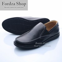 Sepatu Casual Pria Kulit Sepatu Slip On Model Kickers 0404HT