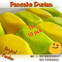 Pancake Durian Original Pandan Isi 10