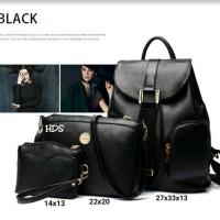 Tas fashion wanita murah backpack fashion 3in1 grosir tas ransel