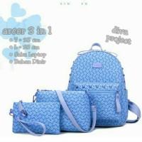 tas fashion wanita murah backpack arcer 3in1 grosir tas ransel