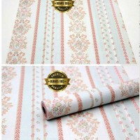 WK Wallpaper Sticker Border Soft Blue and Peach