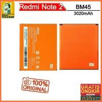 Batre Asli XiaoMi RedMi Note 2 Original. Battery BM45 Batre Battre
