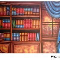 Background Foto Wisuda / Rak Buku WS-13 Studio Photo