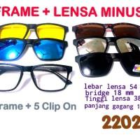 kacamata retro vintage 5 clip on polarize + lensa anti radiasi EMI