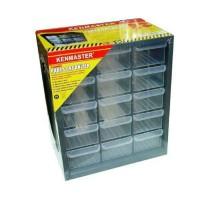 Rak 15 drawer susun-kotak sparepat-kotak perhiasan dll