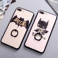 case casing iring i ring iphone 6 6s 7 plus + zebra superheroes cute