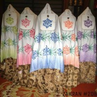 Mukena batik sogan lukis premium jumbo(ecer)