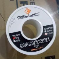 Timah solder HP merk Cellkit ukuran 0.3mm 50 gram