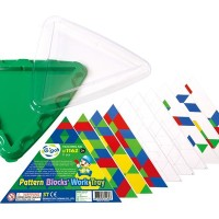 GIGO PATTERN BLOCKS' TRIANGULAR WORK TRAY