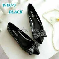 STOCK AKHIR Sepatu Wanita Flat Shoes Pita Gliter SDB79