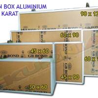 Neon Box 45x60 Aluminium