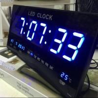 Jam Dinding Digital LED XY-4622 / Jam Digital LED ( BIRU ) Antik MURAH