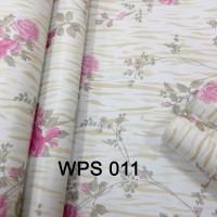 WPS011 PINK FLOWER N GOLDEN MOTIF wallpaper-dinding walpaper stiker