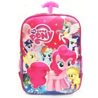Tas Troley Sekolah Anak SD My Little Pony 3D Timbul Hard Cover
