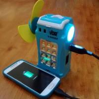VDR All in one kipas+senter+lampu emergency+powerbank V-5400EF