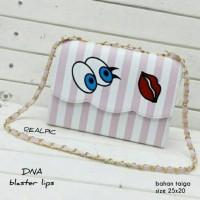tas fashion wanita murah slingbag blaster lips grosir tas selempang