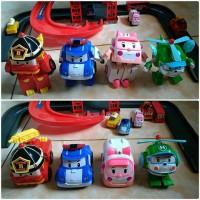 Set Mainan Robot Robocar Poli Mainan Anak Import Robot Mobil Pesawat