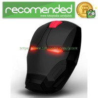 TaffWare Wireless Iron Man Style Optical Mouse Silent Click 2.4Ghz - B